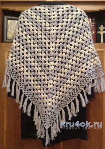 Вязаные крючком шали. Работы Галины Коржуновой. Вязание крючком.