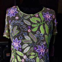 Блуза крючком Летняя пастель. Работа Елены Павленко
