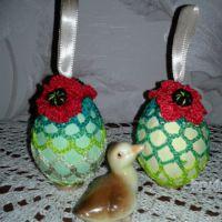 Пасхальное яйцо с цветком мак. Мастер — класс от Фланденой Татьяны