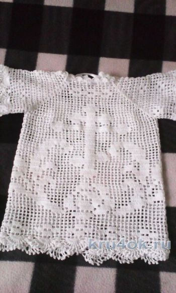 Рубашка для крещения. Автор Рита Грачева. Вязание крючком.