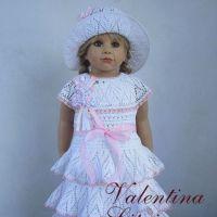Вязаное платье для девочки. Работа Валентины Литвиновой