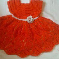 Детское платье крючком. Работа Лауры