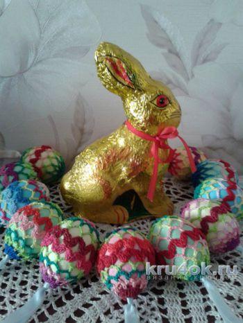 Пасхальное яйцо зиг-заг. Мастер – класс от Фланденой Татьяны. Вязание крючком.