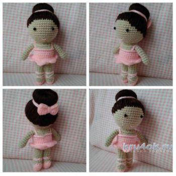Кукла балерина, схемы вязания крючком