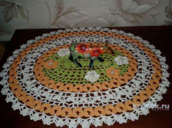 Мастер - класс по вязанию овальной салфетки крючком