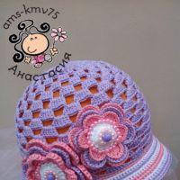Панама — шляпка для девочки Дейзи. Работа Анастасии ams-kmv75