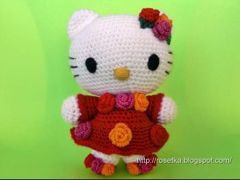 Мастер-класс и схемы по вязанию игрушки Hello Kitty