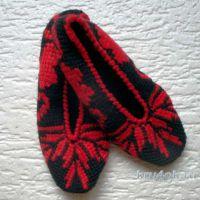 Следки, тунисское вязание. Работа Анны Черновой