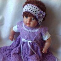 Детское платье Лаванда крючком. Работа Ирины Шейко