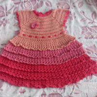 Платье и болеро крючком для девочки