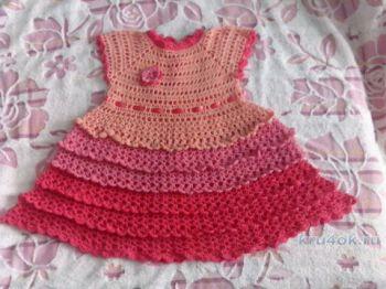 Платье и болеро крючком для девочки. Вязание крючком.