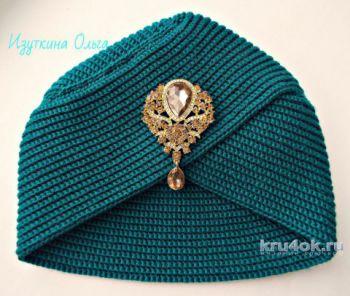 Женская шапочка - чалма крючком