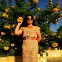 Вязаное крючком платье Зачарованная. Работа Анны Бутиковой