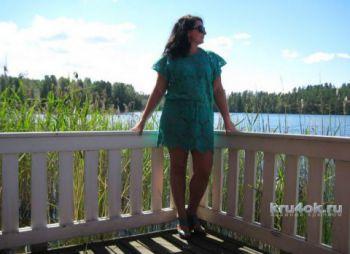 Платье – туника Бирюза. Работа Анны Бутиковой. Вязание крючком.
