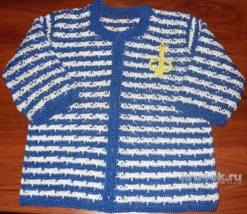Детский жакет крючком, схема вязания