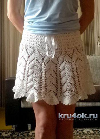 Пляжная юбочка крючком. Работа Елены Шевчук. Вязание крючком.