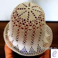 Летняя шляпа крючком. Работа Веры Коваль