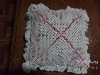 Наволочка для подушки крючком. Работа Нины Яснило. Вязание крючком.