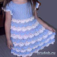 Детское платье крючком. Работа Натальи
