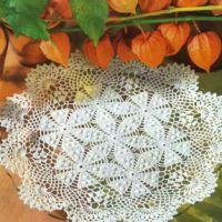 Салфетка цветочные розетки