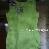 Платье крючком Цветочная поляна. Работа Елены Шляковой