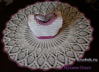 Платье для девочки крючком. Работа Мухиной Ольги. Вязание крючком.
