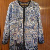 Пальто в технике фриформ с эффектом Деграде. Работа Елены Шляковой