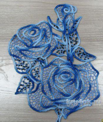 Румынское кружево - розы крючком