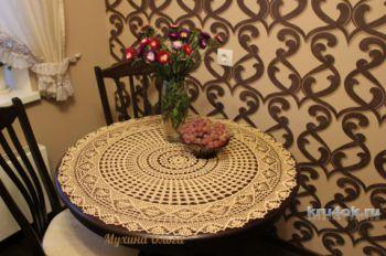 Салфетка - скатерть Осеннее настроение, вязание для дома