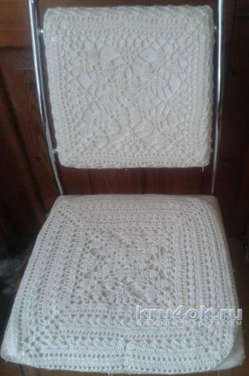 Чехол на стул крючком, вязание для дома