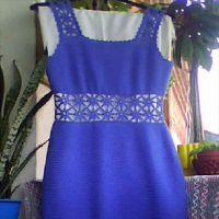 Платье Синие звездочки крючком. Работа Елены Шляковой