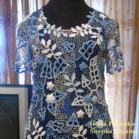 Платье Лазурь лета 2 в технике ирландского кружева. Работа Елены Павленко