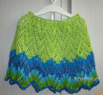 Ажурная юбка для девочки крючком