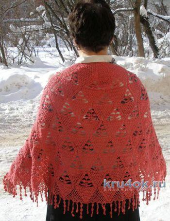 Вязание пончо для женщин Мандариновое дерево