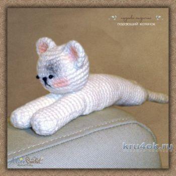 Амигуруми Падающий котенок, игрушка для начинающих