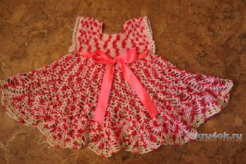 Детское платье крючком. Работа Марины
