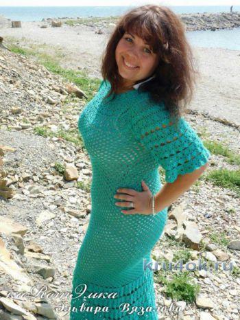 Авторское летнее платье Изумруд от мастерицы Эльвиры Вязаловой