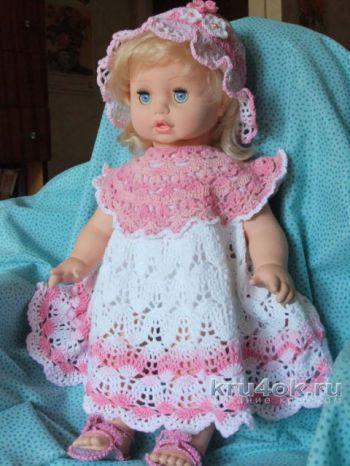 Платье для девочки крючком. Работа Маргариты