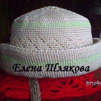 Летняя шляпка крючком. Работа Елены Шляковой