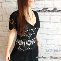 Элегантное платье с ажурной талией от мастерицы Эльвиры Вязаловой
