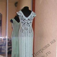 Подвенечное платье крючком. Работа Людмилы Петровой