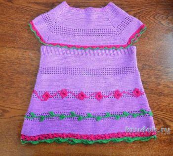 Детские платья крючком. Работы zaverolga