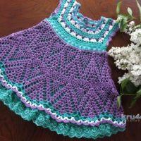 Платье для девочки Сирень. Работа Наталии Левиной