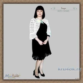 Болеро крючком KEITO DAMA. Работа Alise Crochet