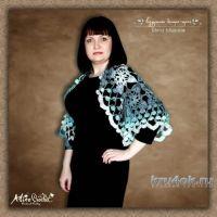 Воздушное болеро-шраг из мохера. Работа Alise Crochet