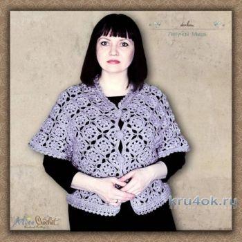 Жакет Летучая мышь. Работа Alise Crochet