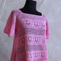 Схемы и модели для вязания ажурных туник