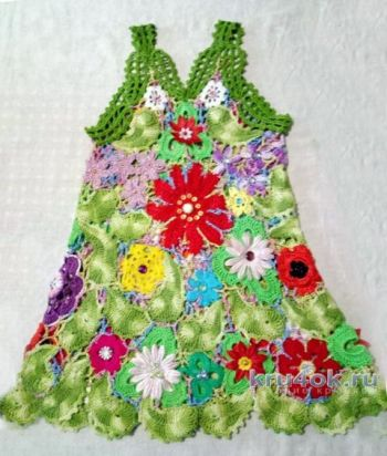 Платье для девочки крючком. Работа Нины Яснило