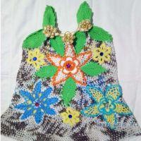 Детское платье крючком. Работа Нины Яснило