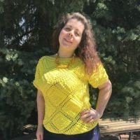 Солнечная кофточка от мастерицы Эльвиры Вязаловой